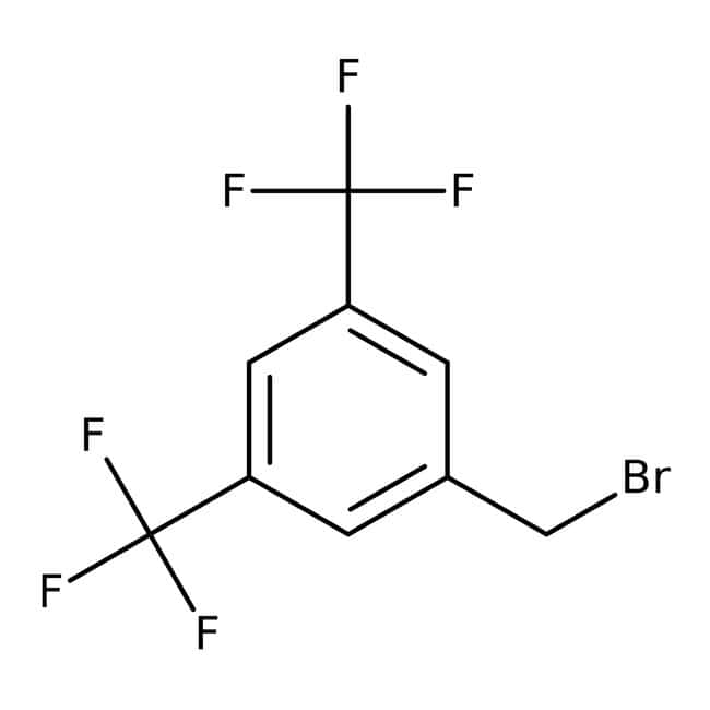 3,5-Bis(trifluoromethyl)benzyl bromide, 97%, ACROS Organics™ 1g; Glass bottle 3,5-Bis(trifluoromethyl)benzyl bromide, 97%, ACROS Organics™