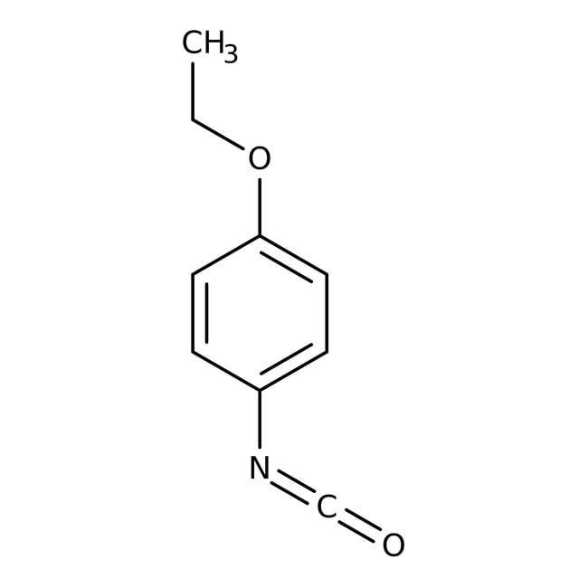 Alfa Aesar™Isocyanate de 4-éthoxyphényle, 97% 25g Alfa Aesar™Isocyanate de 4-éthoxyphényle, 97%