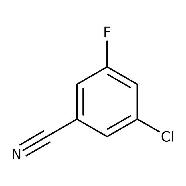 3-Chloro-5-fluorobenzonitrile, 98%, ACROS Organics™ 25g; Glass bottle 3-Chloro-5-fluorobenzonitrile, 98%, ACROS Organics™