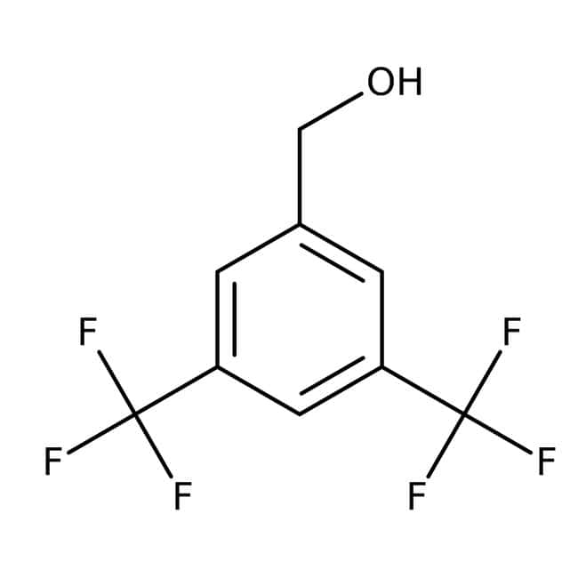 Alfa Aesar™ 3,5-Bis(trifluoromethyl)benzyl alcohol, 98% 25g Alfa Aesar™ 3,5-Bis(trifluoromethyl)benzyl alcohol, 98%
