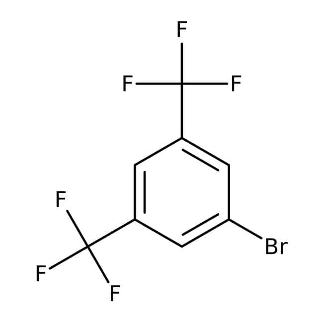 3,5-Bis(trifluoromethyl)bromobenzene, 99%, ACROS Organics™ 10g; Glass bottle 3,5-Bis(trifluoromethyl)bromobenzene, 99%, ACROS Organics™