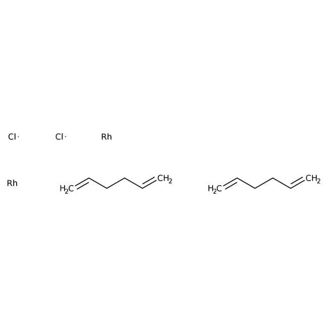 chloro(1,5-hexadiene)rhodium(I) dimer, ACROS Organics™ 1g; Glass bottle chloro(1,5-hexadiene)rhodium(I) dimer, ACROS Organics™