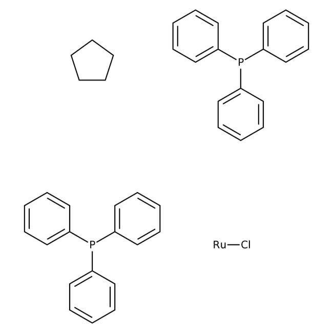 Alfa Aesar™Chloro(cyclopentadienyl)bis(triphenylphosphine)ruthenium(II) ethanol adduct 1g Alfa Aesar™Chloro(cyclopentadienyl)bis(triphenylphosphine)ruthenium(II) ethanol adduct