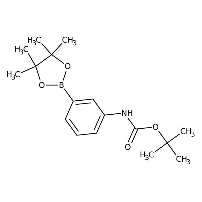 Alfa Aesar™Éster de pinacol de ácido 3-(Boc-amino)bencenoborónico, 97% 5g Alfa Aesar™Éster de pinacol de ácido 3-(Boc-amino)bencenoborónico, 97%