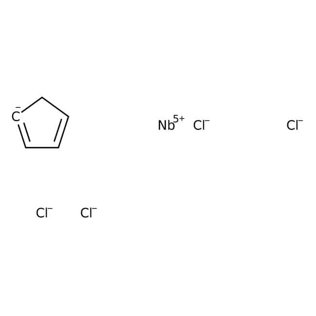Alfa Aesar™Tétrachlorure de cyclopentadiénylniobium(V) 5g Alfa Aesar™Tétrachlorure de cyclopentadiénylniobium(V)