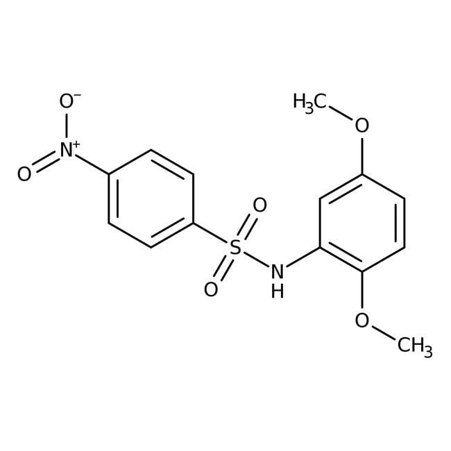 Alfa Aesar™N-(2,5-Dimethoxyphenyl)-4-nitrobenzenesulfonamide, 97% 500mg Alfa Aesar™N-(2,5-Dimethoxyphenyl)-4-nitrobenzenesulfonamide, 97%