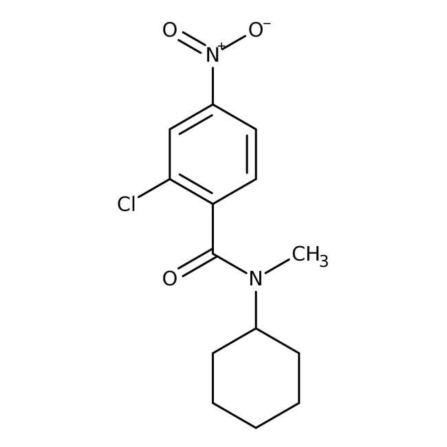 Alfa Aesar™2-Chloro-N-cyclohexyl-N-methyl-4-nitrobenzamide, 97% 1g Alfa Aesar™2-Chloro-N-cyclohexyl-N-methyl-4-nitrobenzamide, 97%