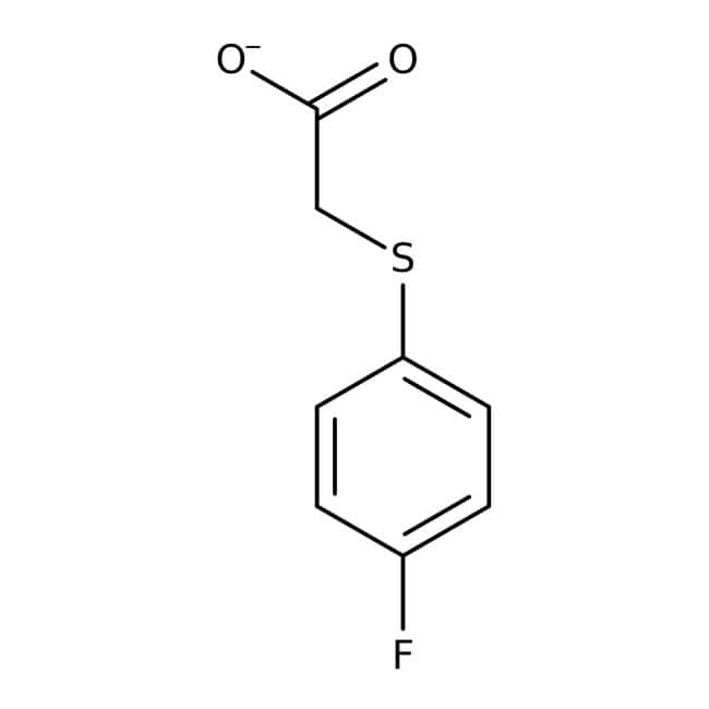 2-[(4-Fluorophenyl)thio]acetic acid, 97%, Maybridge™ 50g 2-[(4-Fluorophenyl)thio]acetic acid, 97%, Maybridge™