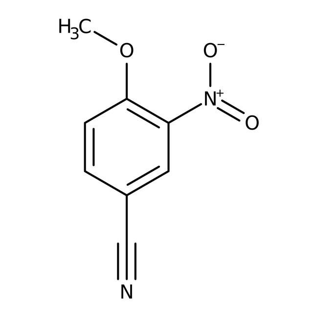 4-Methoxy-3-nitrobenzonitrile, 97%, Maybridge Amber Glass Bottle; 1g 4-Methoxy-3-nitrobenzonitrile, 97%, Maybridge