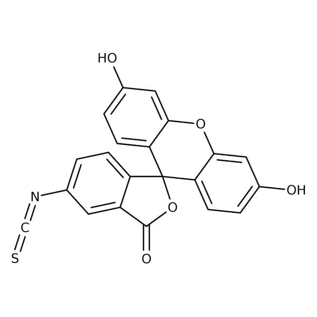 Fluorescein Isothiocyanate Isomer I, 90%, Pure, ACROS Organics™ 250mg; Glass bottle Fluorescein Isothiocyanate Isomer I, 90%, Pure, ACROS Organics™