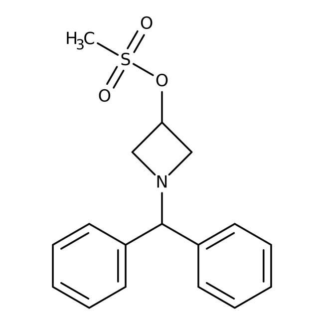 Alfa Aesar™1-Benzhydryl-3-azétidinyl méthanesulfonate, 95% 500mg Alfa Aesar™1-Benzhydryl-3-azétidinyl méthanesulfonate, 95%