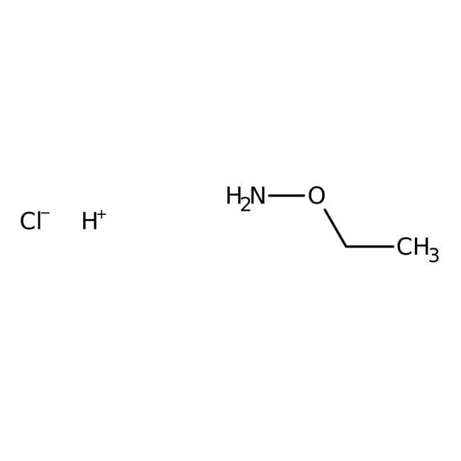 Ethoxyamine hydrochloride, 99+%, ACROS Organics™ 25g; Glass bottle Ethoxyamine hydrochloride, 99+%, ACROS Organics™