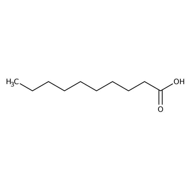 Decanoic acid, 99%, ACROS Organics™ 1kg Decanoic acid, 99%, ACROS Organics™