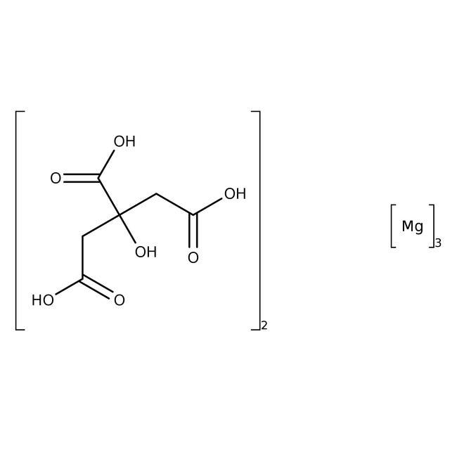 Alfa Aesar™Magnesium citrate hydrate, Mg ca 16% (dry wt.) 5kg Alfa Aesar™Magnesium citrate hydrate, Mg ca 16% (dry wt.)