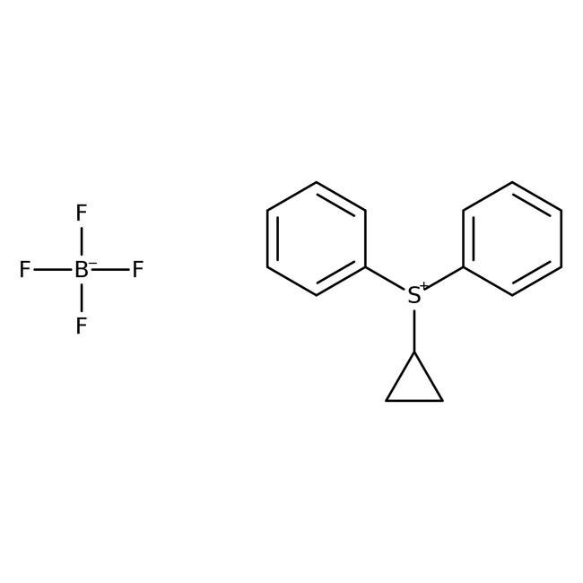Cyclopropyldiphenyl sulfonium tetrafluoroborate, 98%, ACROS Organics