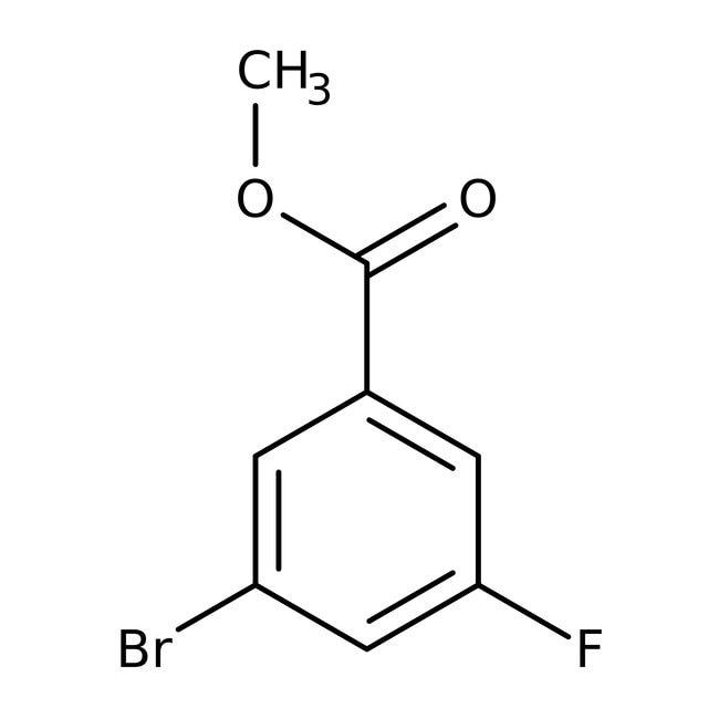 Alfa Aesar™Methyl 3-bromo-5-fluorobenzoate, 98% 5g Alfa Aesar™Methyl 3-bromo-5-fluorobenzoate, 98%