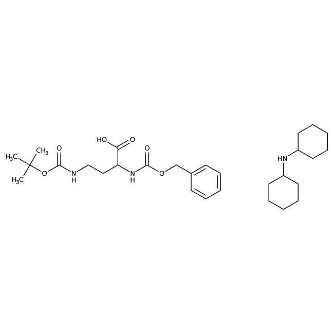 Alfa Aesar™(S)-2-Benzyloxycarbonylamino-4-(Boc-amino)Butyrinsäure Dicyclohexylammoniumsalz, 98% 250mg Alfa Aesar™(S)-2-Benzyloxycarbonylamino-4-(Boc-amino)Butyrinsäure Dicyclohexylammoniumsalz, 98%