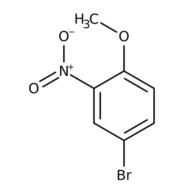 Alfa Aesar™4-Bromo-2-nitroanisole, 97% 25g Alfa Aesar™4-Bromo-2-nitroanisole, 97%