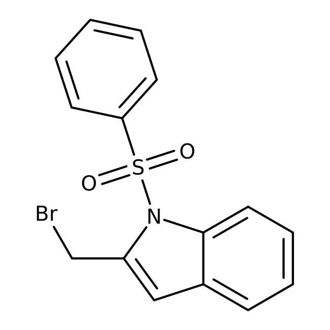 2-(Bromomethyl)-1-(phenylsulfonyl)-1H-indole, 97%, Maybridge