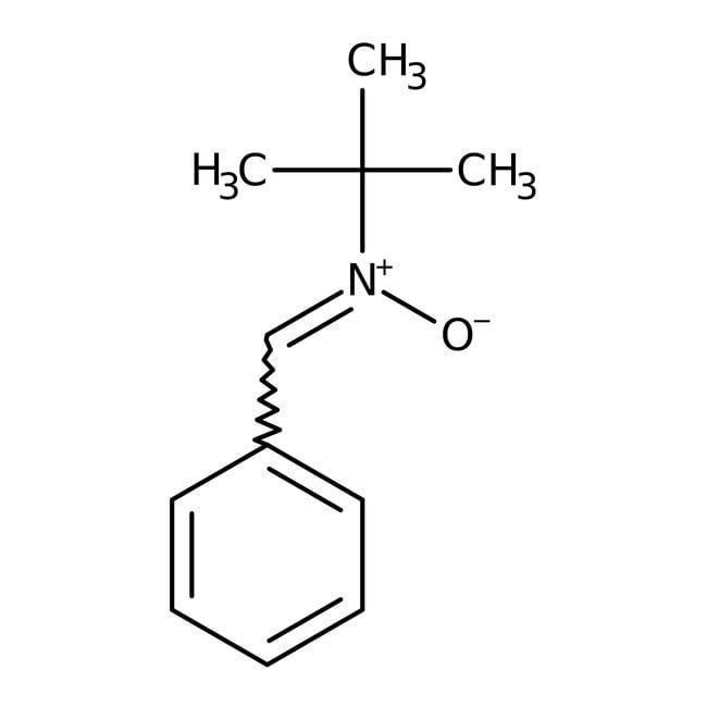 N-tert-Butyl-alpha-phenylnitrone, 98%, ACROS Organics™ 5g; Glass bottle N-tert-Butyl-alpha-phenylnitrone, 98%, ACROS Organics™
