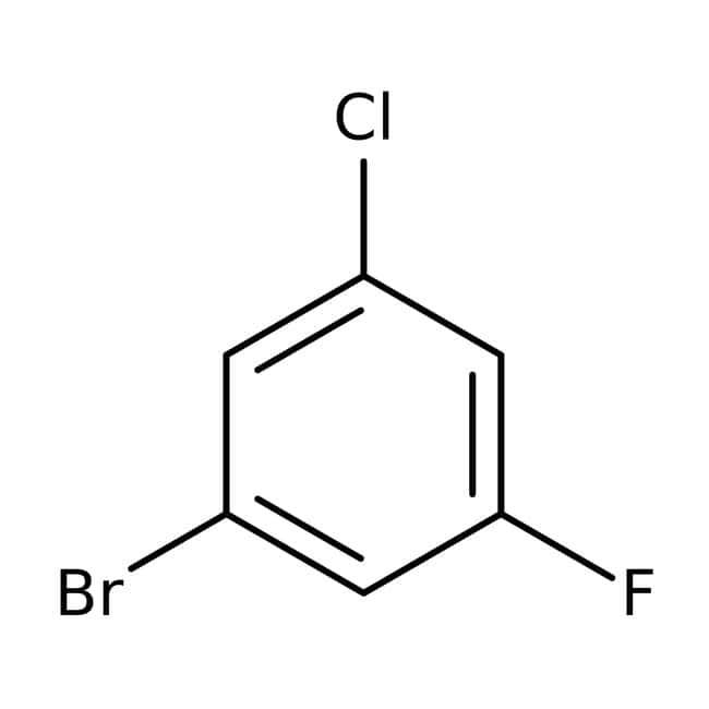 1-Bromo-3-chloro-5-fluorobenzene, 98%, Acros Organics 100g, Glass bottle 1-Bromo-3-chloro-5-fluorobenzene, 98%, Acros Organics