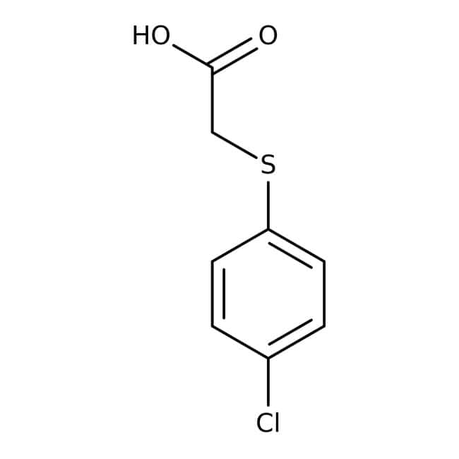 Alfa Aesar™(4-chlorophénylthio)acide acétique, 98 % 10g Alfa Aesar™(4-chlorophénylthio)acide acétique, 98 %