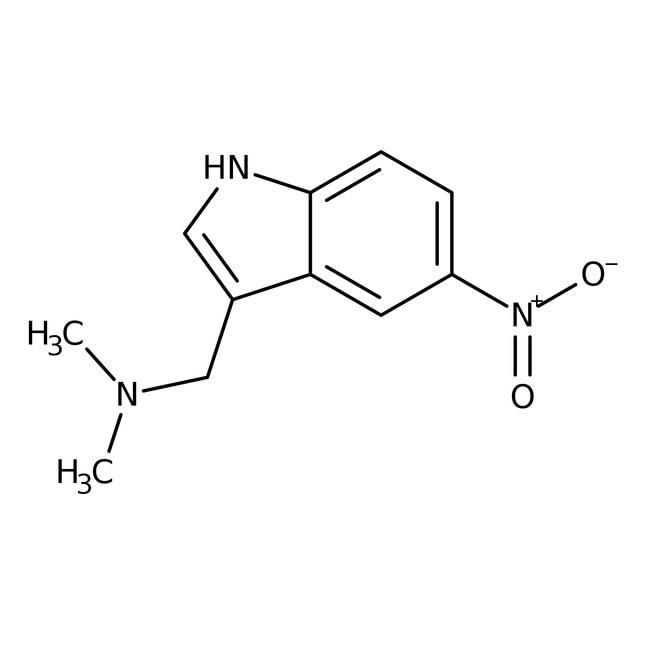 Alfa Aesar™3-(Dimethylaminomethyl)-5-nitroindole, 95% 1g Alfa Aesar™3-(Dimethylaminomethyl)-5-nitroindole, 95%
