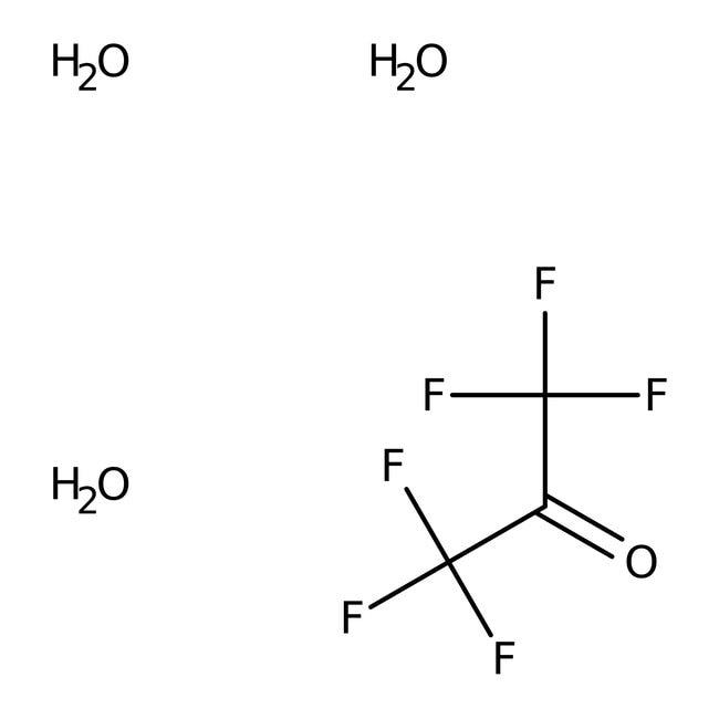 Alfa Aesar™Hexafluoroacétone trihydraté, 98% 25g Alfa Aesar™Hexafluoroacétone trihydraté, 98%
