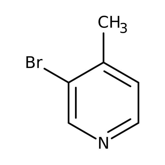 3-Bromo-4-methylpyridine, 97%, ACROS Organics™ 1g; Glass bottle 3-Bromo-4-methylpyridine, 97%, ACROS Organics™