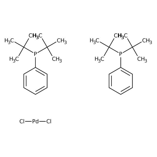 Dichlorobis(di-tert-butylphenylphosphine)palladium(II), Alfa Aesar™ 250mg Dichlorobis(di-tert-butylphenylphosphine)palladium(II), Alfa Aesar™