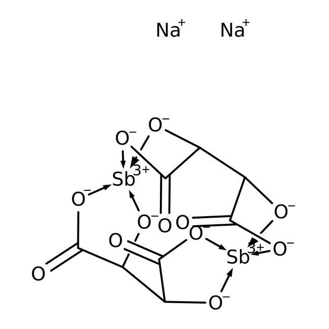 Alfa Aesar™L-Tartrato de sodio y antimonilo, +98% 50g Alfa Aesar™L-Tartrato de sodio y antimonilo, +98%