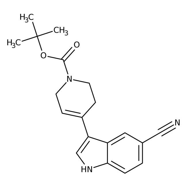 Alfa Aesar™3-(1-Boc-1,2,3,6-Tetrahydro-4-Pyridyl)-5-Cyanoindol, 95% 1g Alfa Aesar™3-(1-Boc-1,2,3,6-Tetrahydro-4-Pyridyl)-5-Cyanoindol, 95%