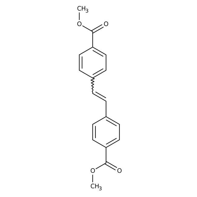 Alfa Aesar™Dimethyl trans-stilbene-4,4'-dicarboxylate, 98+% 1g Alfa Aesar™Dimethyl trans-stilbene-4,4'-dicarboxylate, 98+%
