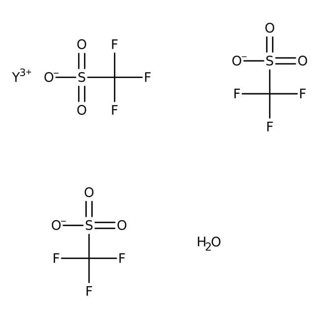 Alfa Aesar™Trifluorométhanesulfonate d'yttrium(III) hydraté 50g Alfa Aesar™Trifluorométhanesulfonate d'yttrium(III) hydraté