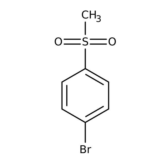 4-Bromophenyl methyl sulfone, 99%, ACROS Organics™ 25g; Glass bottle 4-Bromophenyl methyl sulfone, 99%, ACROS Organics™