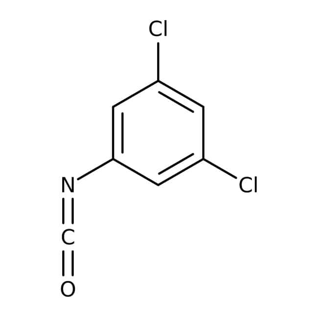 3,5-isocyanate de dichlorophényle, 96%, ACROSOrganics™ 5g; flacon en verre 3,5-isocyanate de dichlorophényle, 96%, ACROSOrganics™