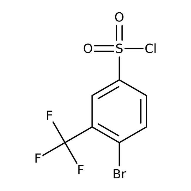 4-Bromo-3-(trifluoromethyl)benzenesulfonyl chloride, 97%, ACROS Organics™
