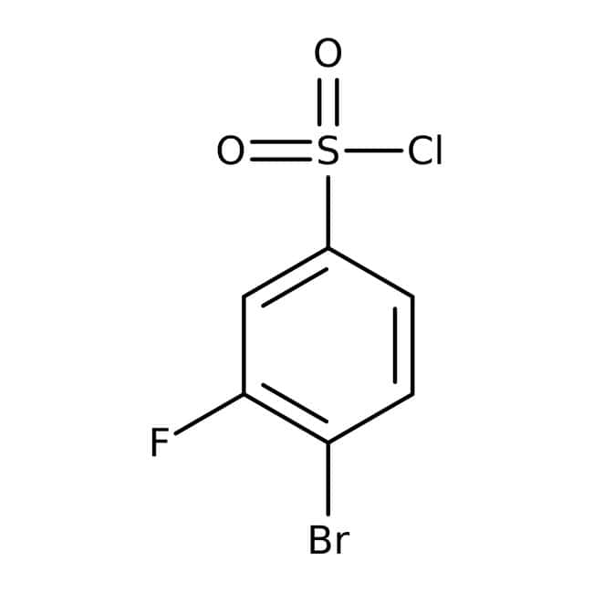 4-Bromo-3-fluorobenzenesulfonyl chloride, 97%, ACROS Organics™ 5g 4-Bromo-3-fluorobenzenesulfonyl chloride, 97%, ACROS Organics™