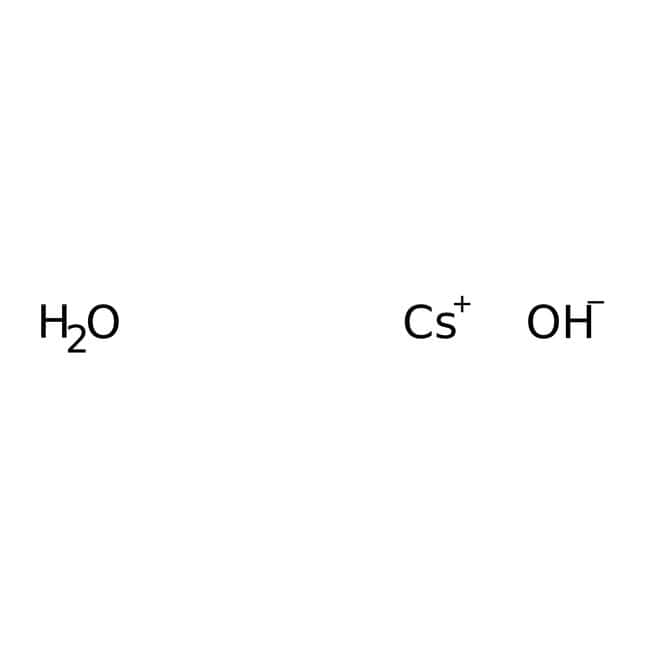 Cesium hydroxide monohydrate, 99.95%, (trace metal basis), for analysis, ACROS Organics™