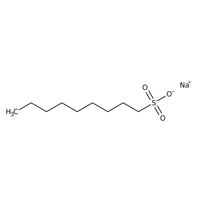 1-Nonanesulfonic acid, sodium salt, 99+%, Ion pair chromatography, anhydrous, ACROS Organics™ 5g; Glass bottle 1-Nonanesulfonic acid, sodium salt, 99+%, Ion pair chromatography, anhydrous, ACROS Organics™