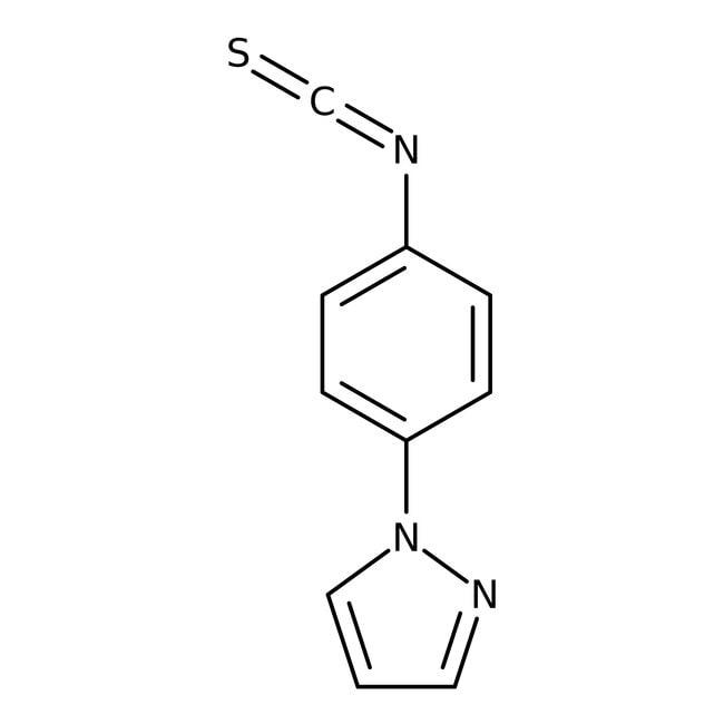 4-(1H-pyrazol-1-yl)phenyl isothiocyanat, 97%, Maybridge Braunglasflasche, 1g 4-(1H-pyrazol-1-yl)phenyl isothiocyanat, 97%, Maybridge