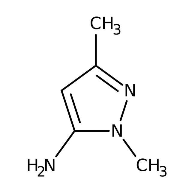 1,3-Dimethyl-1H-pyrazol-5-amin, 97%, Maybridge Braunglasflasche, 50g 1,3-Dimethyl-1H-pyrazol-5-amin, 97%, Maybridge