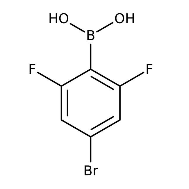 Alfa Aesar™4-Brom-2,6-Difluorbenzenboronsäure, 98% 5g Alfa Aesar™4-Brom-2,6-Difluorbenzenboronsäure, 98%