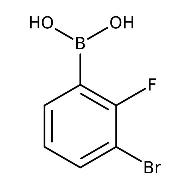 Alfa Aesar™3-Bromo-2-fluorobenzeneboronic acid, 98% 5g Alfa Aesar™3-Bromo-2-fluorobenzeneboronic acid, 98%