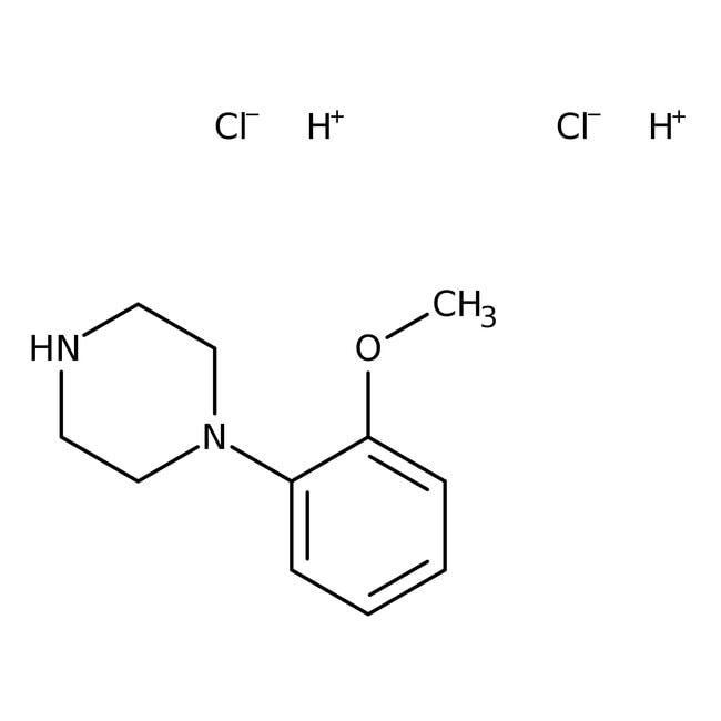 1-(2-Methoxyphenyl)piperazine, 98+%, Acros Organics 5g; Glass bottle 1-(2-Methoxyphenyl)piperazine, 98+%, Acros Organics