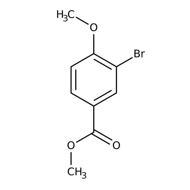 Alfa Aesar™Méthyl 3-bromo-4-méthoxybenzoate, 98% 10g Alfa Aesar™Méthyl 3-bromo-4-méthoxybenzoate, 98%