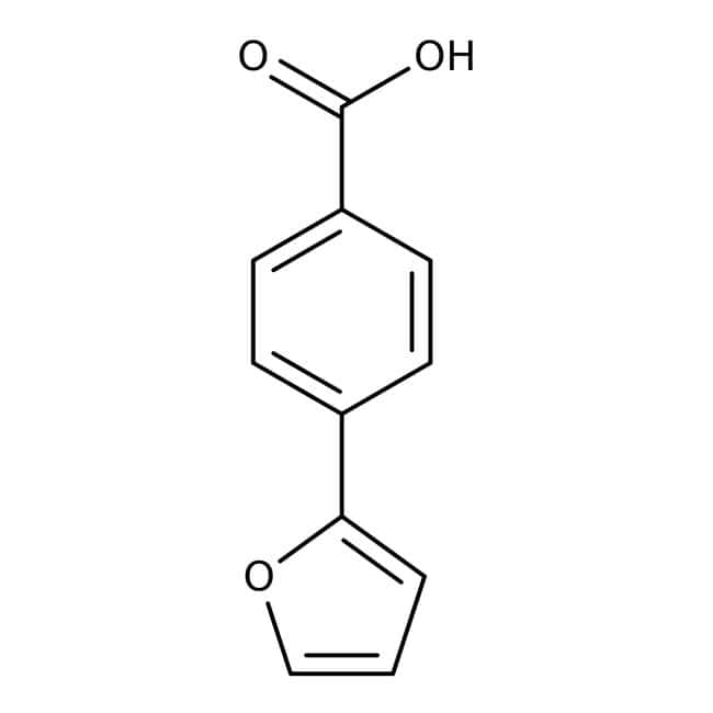 4-(2-Furyl)-benzoesäure, 97%, Maybridge Braunglasflasche, 1g 4-(2-Furyl)-benzoesäure, 97%, Maybridge