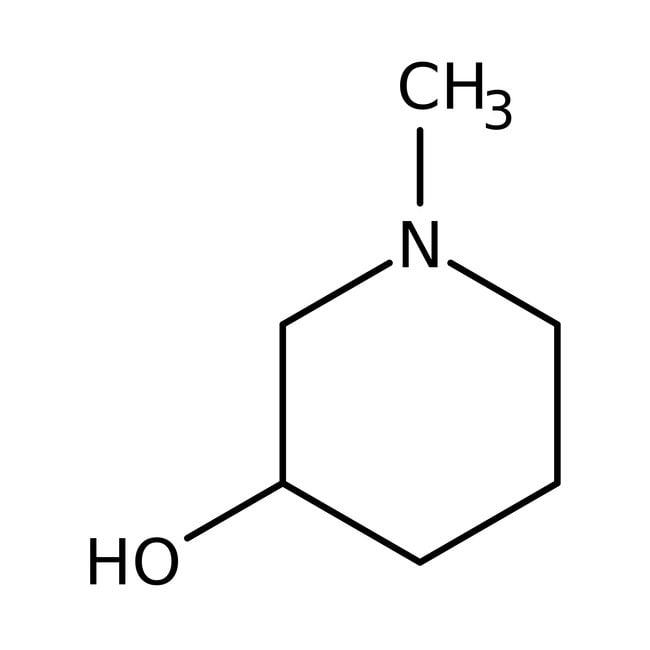 3-Hydroxy-1-methylpiperidine, 97%, ACROS Organics™ 100g, Glass bottle 3-Hydroxy-1-methylpiperidine, 97%, ACROS Organics™