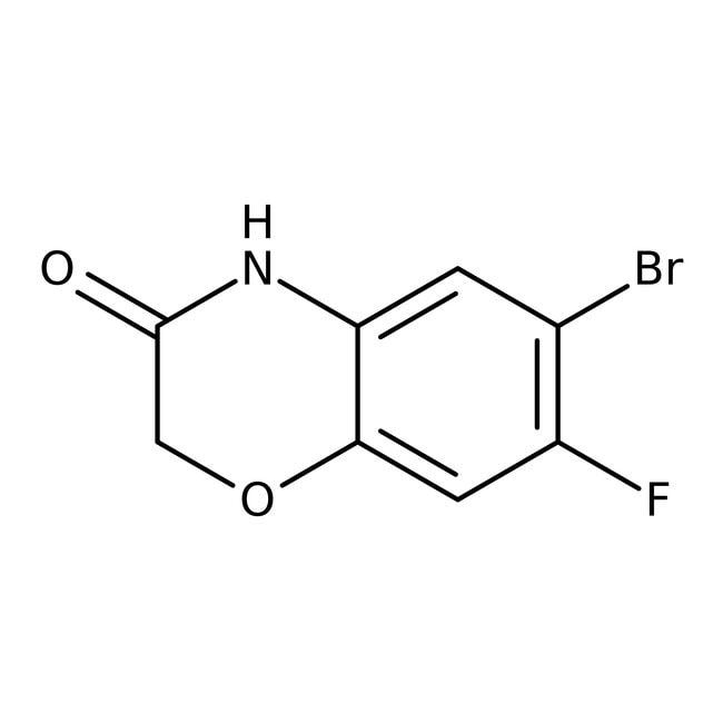 Alfa Aesar™6-Bromo-7-fluoro-2,4-dihydro-1,4-benzoxazin-3-one, 96% 250mg Alfa Aesar™6-Bromo-7-fluoro-2,4-dihydro-1,4-benzoxazin-3-one, 96%