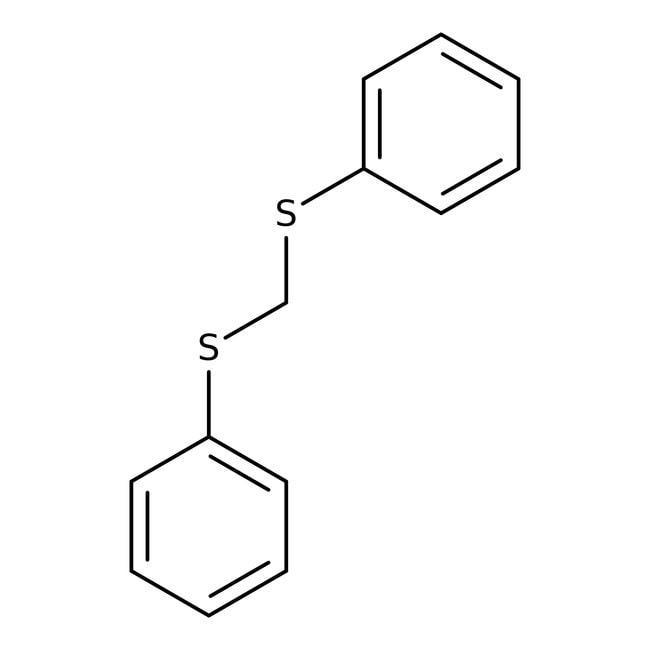 Alfa Aesar™Bis(phénylthio)méthane, 98+% 25g Alfa Aesar™Bis(phénylthio)méthane, 98+%